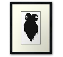 Silhouettes - No Writing Framed Print