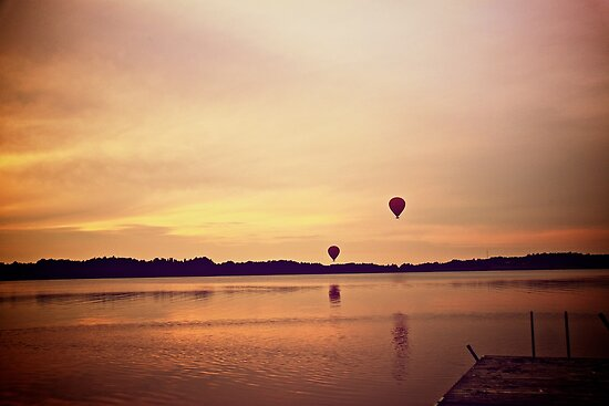 Balloon sunset by LadyFi
