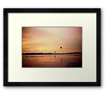Balloon sunset Framed Print
