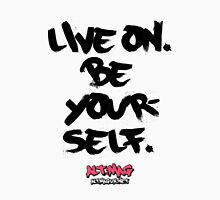 Alt:Mag - 'Live On And Be Yourself' ('Words To Live By' Series) Men's Baseball ¾ T-Shirt