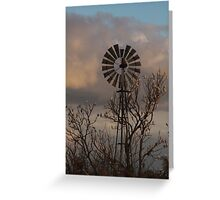Windmill and Wildlife Greeting Card