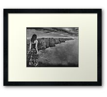 Whisper The Cliffs of Moher by Gary Rudisill Framed Print