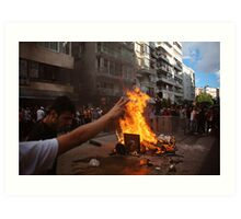 Protests against Turkish Government Art Print