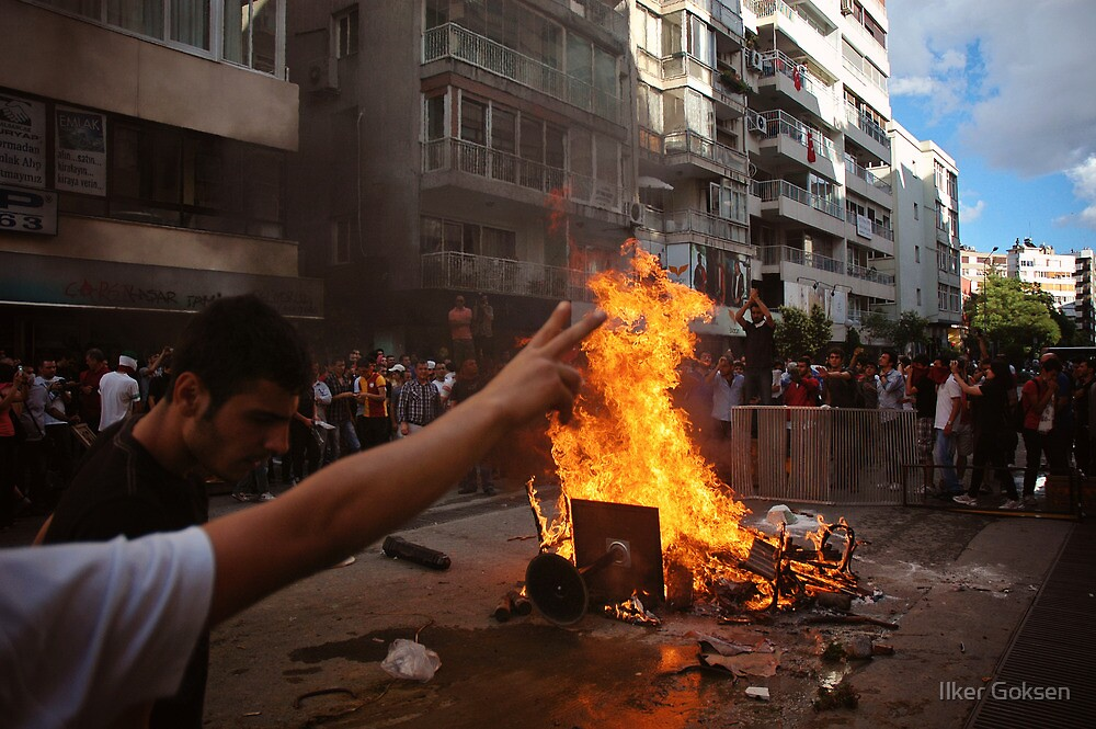 Protests against Turkish Government by Ilker Goksen