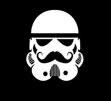 Storm Trooper moustache iphone by JacksonSam