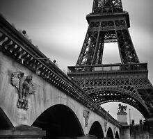 Eiffel Tower Under the Pont d'Iéna by Randy  LeMoine