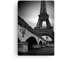 Eiffel Tower Under the Pont d'Iéna Canvas Print