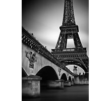 Eiffel Tower Under the Pont d'Iéna Photographic Print
