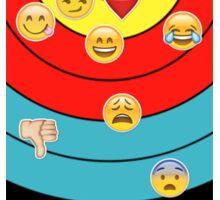 Target & emoji (vertical 2) Sticker