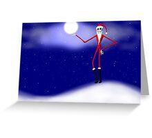 Jack Skellington Christmas Santa Greeting Card