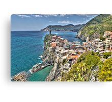 Vernazza Back View Canvas Print