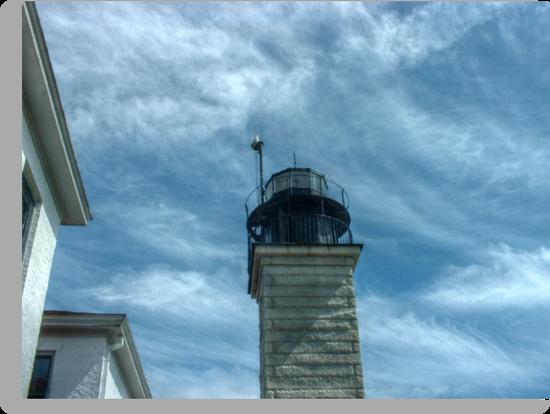 Beavertail Lighthouse, Narragansett Bay, Rhode Island USA by Jane Neill-Hancock