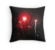 Shadows of Smoke Amidst Fireballs Throw Pillow
