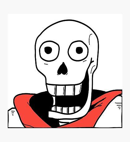 Undertale - Papyrus Stupid Face Photographic Print