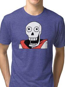 Undertale - Papyrus Stupid Face Tri-blend T-Shirt