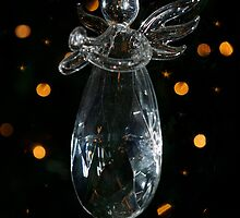 glass Christmas angel by Sharie Falan