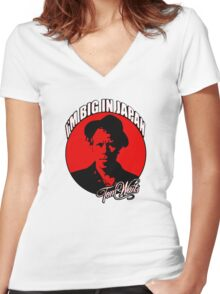 Big in Japan - Tom Waits Women's Fitted V-Neck T-Shirt