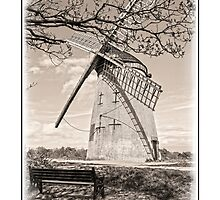 Bidston Windmill in Sepia by DavidWHughes