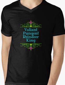 Valiant Pungent Reindeer King Mens V-Neck T-Shirt