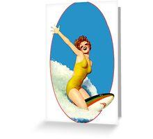 Vintage Surfer Greeting Card