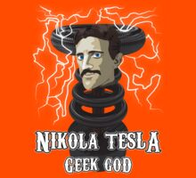 Nikola Tesla: Geek God Kids Clothes