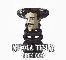 Nikola Tesla: Geek God Kids Tee