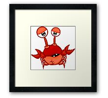Cartoon crab Framed Print