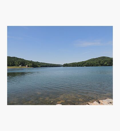 Tranquil Moment at Leesville Lake Photographic Print
