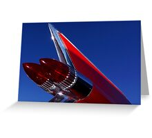 Red Cadillac Fin Greeting Card