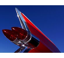 Red Cadillac Fin Photographic Print