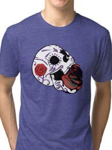 Rose Skull Tri-blend T-Shirt