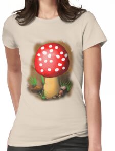 Amanita muscaria Womens Fitted T-Shirt