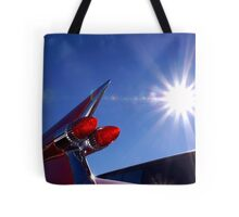 Red Cadillac Fin and Solar Flare Tote Bag