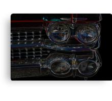 Cadillac Neon Grill Canvas Print