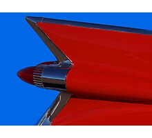 Red Cadillac Fin II Photographic Print