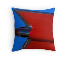 Red Cadillac Fin II Throw Pillow