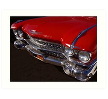 Red Cadillac Grill Art Print