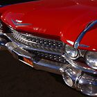 Red Cadillac Grill by wayneyoungphoto