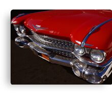 Red Cadillac Grill Canvas Print
