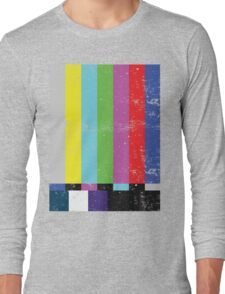TV test Lines  Long Sleeve T-Shirt