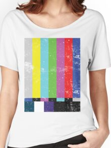 TV test Lines  Women's Relaxed Fit T-Shirt