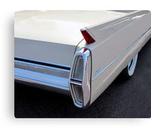 White Cadillac Fin Canvas Print