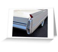 White Cadillac Fin Greeting Card