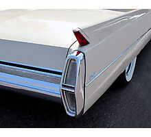 White Cadillac Fin Photographic Print