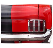 Mustang Tail Light Poster