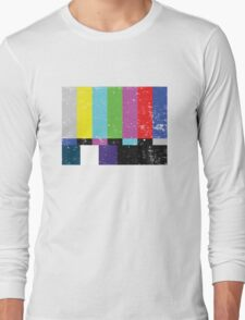 TV test Lines (Half t-shirt 02) Long Sleeve T-Shirt