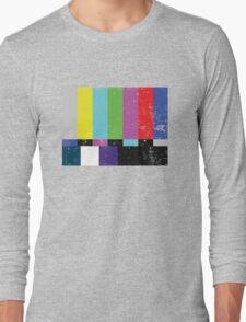 TV test Lines (Half t-shirt 02) Long Sleeve T-Shirt