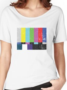 TV test Lines (Half t-shirt 02) Women's Relaxed Fit T-Shirt