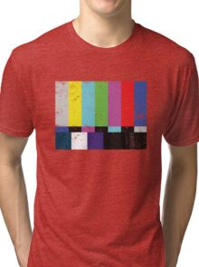 TV test Lines (Half t-shirt 02) Tri-blend T-Shirt