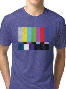 TV test Lines (Half t-shirt 02) Tri-blend T-Shirt